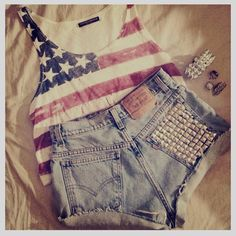 Seeing clothes like this makes me want to party so hard for 4th of July