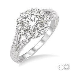 5/8 Ctw Diamond Semi-Mount Ring in 14K White Gold