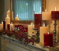 Decoração de Natal com velas  @christmas.beauty