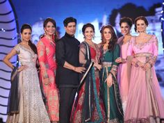 Celebrities like Madhuri Dixit Nene, Lara Dutta Bhupathi, Preity Zinta, Malaika Arora Khan and many others walked the ramp in stunning outfits designed by Manisha Malhotra for the second Anniversary of Lilavati Hosipital's Save & Empower the Girl Child Campaign held in Mumbai. The campaign, which was initiated by the doctors at Lilavati Hospital in 2013, was attended by veteran actresses like Helen and Waheeda Rehman too. Check out the Bollywood celebrities who walked the ramp in designer…