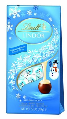 Lindt LINDOR Snowman Milk with White Chocolate Truffle 7.2 Ounce - http://bestchocolateshop.com/lindt-lindor-snowman-milk-with-white-chocolate-truffle-7-2-ounce/