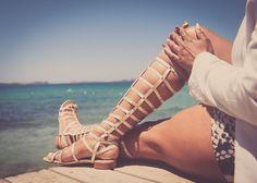 Claires Life: Ibiza trip Stuart Weitzman knee high gladiator sandals