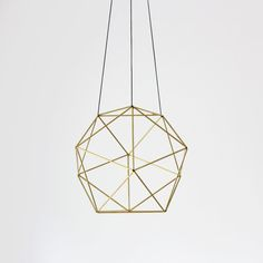 brass hanging object.