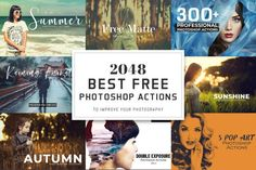 Using Photoshop actions in your photography and designs help with efficiency and quality. This post highlights 2048 free Photoshop actions pack for everyone. Best Photoshop Actions, Free Photoshop, Photoshop Website, Photoshop Design, Photoshop Brushes, Photoshop Elements, Photoshop For Photographers, Photoshop Photography, Portrait Photography