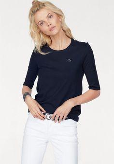 Lacoste T-Shirt, mit Logobadge für 45,00€. T-Shirt mit Rundhalsausschnitt, Weicher Stretchjersey, Basic Form, Markentypischer Badge bei OTTO