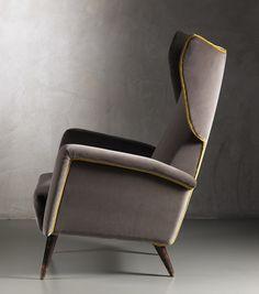 Gio Ponti, 'Pair of Bergere armchairs,' 1950, Nilufar Gallery