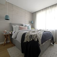 Colour scheme for bedroom - The Block Triple Threat in Melbourne