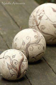 Keramik Gartenkugeln * frostfest und witterungsbeständig! Ceramic Art, Ceramics, Ceramica, Pottery, Porcelain, Ceramic Pottery