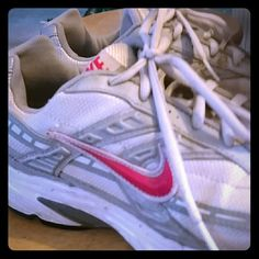 Nike shoes Nike white and gray Nike Shoes Sneakers