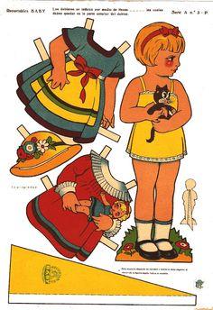 muñecas recortables, paper doll