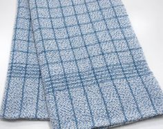 Kitchen Towel Blue Hand Woven Check