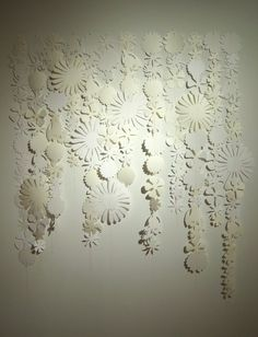 sewn paper flowers