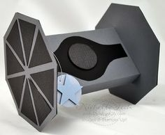 Stampin Up Star Wars Tie-Fighter Gift Box by 2stampis2b Michelle Tech