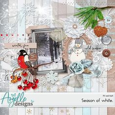 """""""Season of white.""""full kit by Angelle DesignsDo you like winter?I do, cause I was born in February and there's Christmas and New Year in winter, all my fave holidays)If you do too, then this full kit is for you.This kit includes 45 elements and 14 papersPU, S4H friendlyEnjoy your scrapping,xoxo, DashaFollow me to know all the news"""