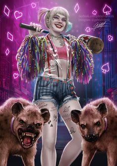 Harley Quinn - Birds of Prey, Gabriel Vitoria Harley Quinn Et Le Joker, Harley Quinn Drawing, Joker Dc, Arlequina Margot Robbie, Harey Quinn, Kawaii 365, New Harley, Daddys Lil Monster, Birds Of Prey
