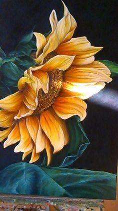 Girassol- óleo sobre tela: