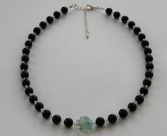 Aventurine and Fluorite Flower Necklace from JellyGiraffe