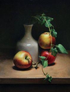 Apple still life, painting by artist Jos van Riswick
