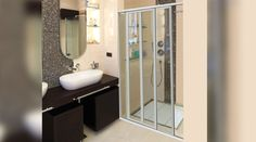 Shower Doors | Aluminium Windows and Doors by Action Glass & Aluminium Aluminium Windows And Doors, Glass And Aluminium, Shower Doors, Action, Mirror, Bathroom, Frame, Diy, Furniture