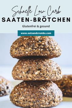 Low Carb Bun, Low Carb Protein, Low Carb Keto, Best Low Carb Recipes, Great Recipes, Healthy Recipes, Low Carb Granola, Meals For Two, Food Inspiration