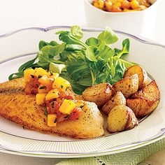 Grilled Fish with Salsa #recipe, a simple and healthy fish dinner that comes together quickly