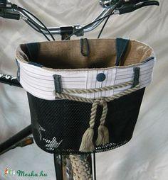 Biciklikosárba is rakható táska - tengerész (messke) - Meska.hu