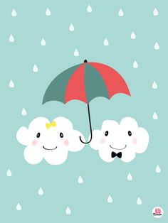 Affiche Monsieur et madame nuage