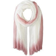 Steve Madden Ombre Edge Wrap (Blush) ($28) ❤ liked on Polyvore featuring accessories, scarves, wrap shawl, wrap scarves, steve madden, ombre scarves and steve madden scarves