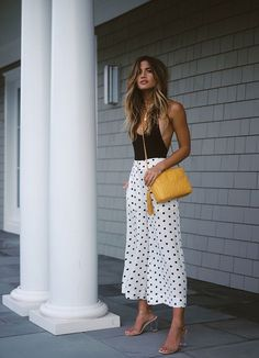 Chic Summer Outfits, Spring Summer Fashion, Trendy Outfits, Cute Outfits, Fashion Outfits, Casual Summer Evening Outfit, Crazy Outfits, Style Summer, Dress Summer