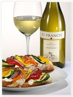 RATATOUILLE GRILLED CHEESE paired with Sonoma County Chardonnay #stfranciswinery #saycheese