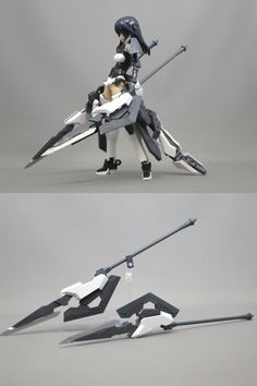 Robot Concept Art, Weapon Concept Art, Anime Weapons, Fantasy Weapons, Gundam Tutorial, Frame Arms Girl, Custom Gundam, Robot Design, Anime People