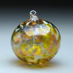 hand made blown glass Christmas ornament in by ThomasSpakeStudios