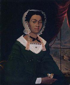 Mrs. Nancy Lawson by William Matthew, 1843 Nice side part!