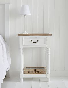 brittany white bedside table with shelf and drawer a range of french style furniture and