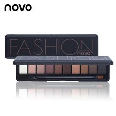 Cheap Eye Shadow, Buy Directly from China Suppliers:Hot Sale Eye Makeup Palette Natural Fashion Make Up Light 10 Colors Eye Shadow Shimmer Matte Eyeshadow Cosmetics Set With Brush Shimmer Eye Makeup, Nude Makeup, Eyeshadow Makeup, Beauty Makeup, Korean Eyeshadow, Summer Eyeshadow, Glitter Eyeshadow, Makeup Cosmetics, Sombra Natural