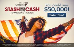 Enter the Great American Country Stash of Cash Sweepstakes for your chance to…