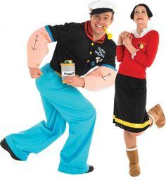 Kostuum voor een koppel: Popeye en Olijfje™