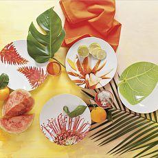 Clinton Friedman Melamine Plates - great summer colors.