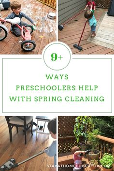 chores for preschoolers to help with during spring cleaning - Preschoolers are very capable of helping around the house. Engage them in spring cleaning with these nine chores for preschoolers. Preschool At Home, Preschool Lessons, Preschool Learning, Toddler Preschool, Preschool Activities, Teaching, Peaceful Parenting, Gentle Parenting, Parenting Books
