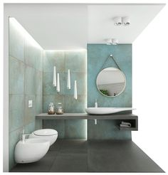 Mint Bathroom, Downstairs Bathroom, Bathroom Design Luxury, Modern Bathroom Design, Contemporary Small Bathrooms, Dark Bathrooms, Bathroom Design Inspiration, Home Design Decor, Washroom