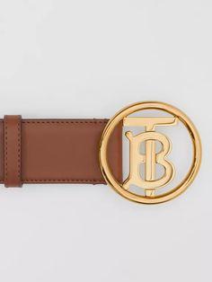 Monogram Motif Leather Belt in Tan/antique Dark Brass - Women Charm Jewelry, Burberry, Monogram, Charmed, Belt, Leather, Accessories, Fashion, Belts