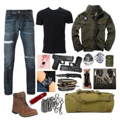 """Soldier Traveling To Charming (SOA)"" by sammywinchester05 ❤ liked on Polyvore featuring Simplex Apparel, Philipp Plein, Timberland, NAKAMOL, 5.11 Tactical, Victorinox Swiss Army, Vance Co., Zippo, men's fashion and menswear"