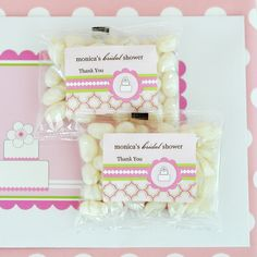 Personalized Jelly Bean Packs - Pink Cake  at CheapFavorShop.com