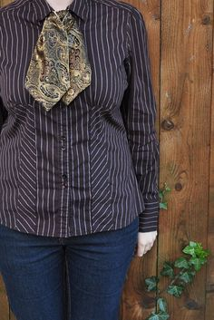 Bronzed Gold Brocade Ascot/Cravat by UnpopularGirl on Etsy, $12.00