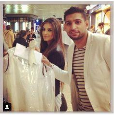 Faryal.M.Khan & Amir Khan Faryal Makhdoom Khan, Beautiful Couple, Hair Beauty, Coat, Face, Jackets, Fashion, Down Jackets, Moda