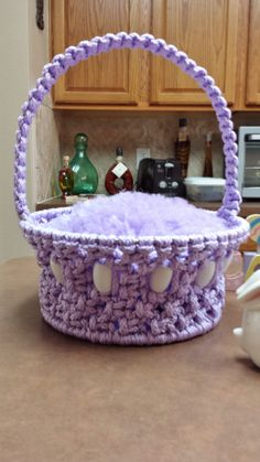 Macramé Easter Basket....sold on Etsy at www.countrygooseboutique.etsy.com