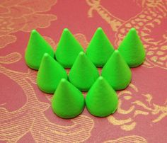 DIY Spike Stud--20pc Green cone Spike Studs with Screwback Bullet Rivets…