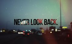 only enough to look back and see how you've changed for the better because of your past and to learn from past mistakes.