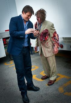 Nathan Fillion and a Zombie