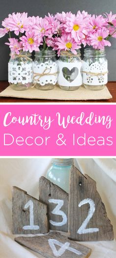 We have collected out best country wedding ideas to help you plan your big day! Give these DIY ideas a try for a wedding you will love! Fun Diy Crafts, Easy Crafts For Kids, Diy For Teens, Creative Crafts, Crafts To Sell, Diy For Kids, Wedding Shower Decorations, Diy Wedding Reception, Country Wedding Decorations
